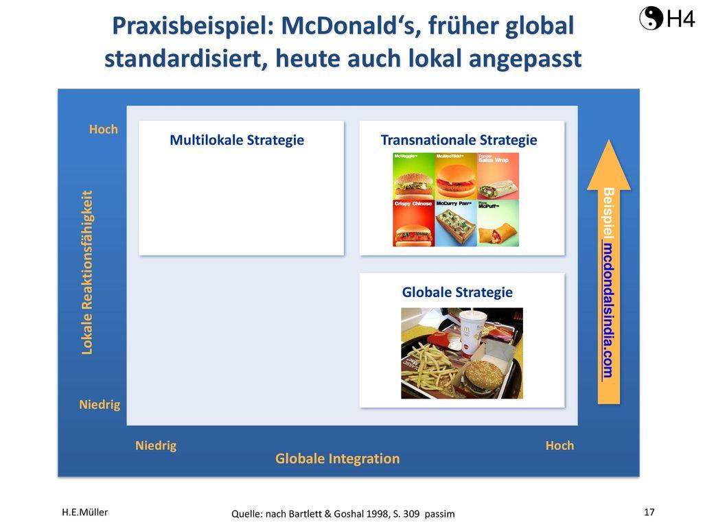 Transnationale Strategie Beispiel mcdondalsindia.com