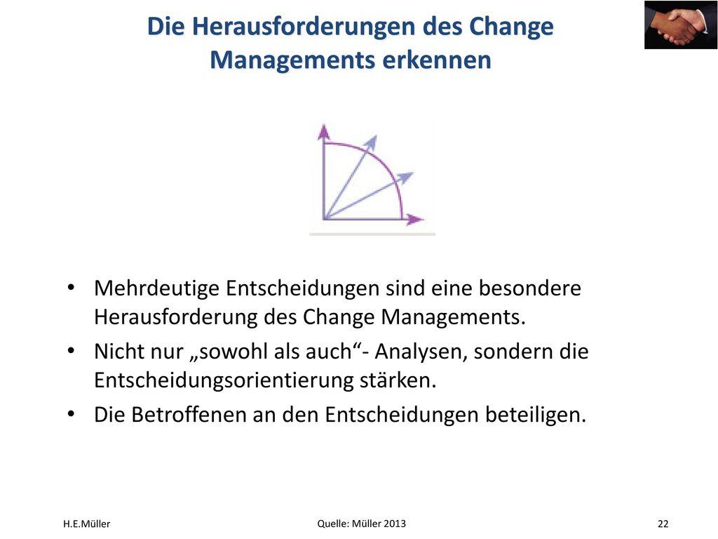 Die Herausforderungen des Change Managements erkennen