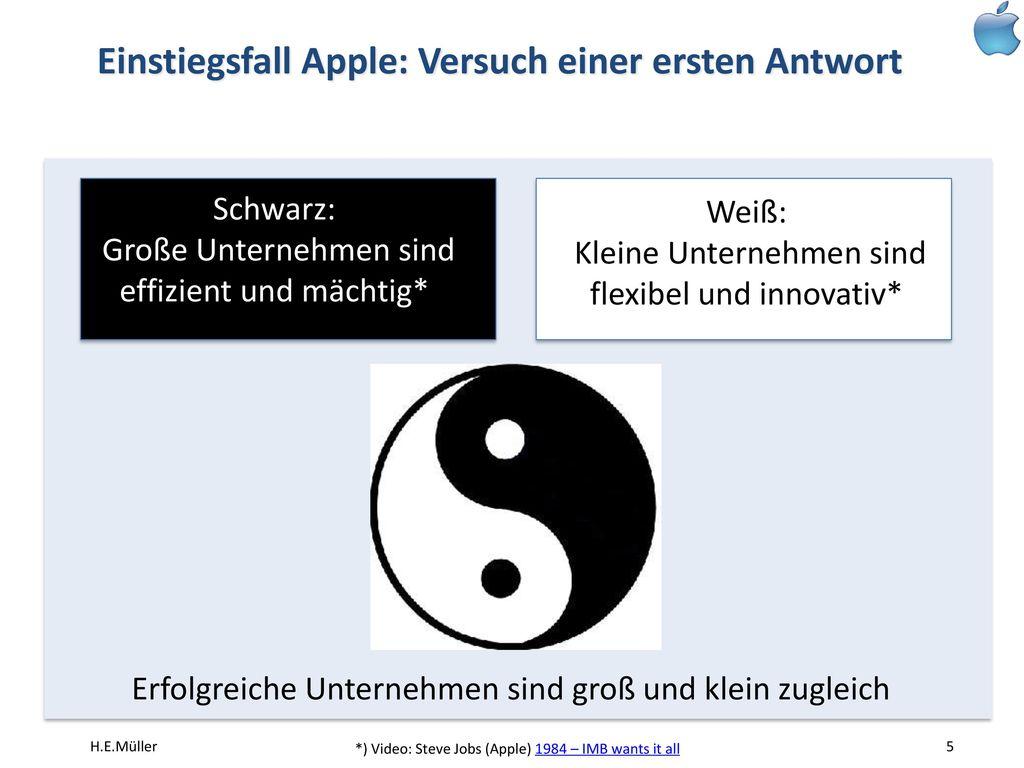 Einstiegsfall Apple: Versuch einer ersten Antwort