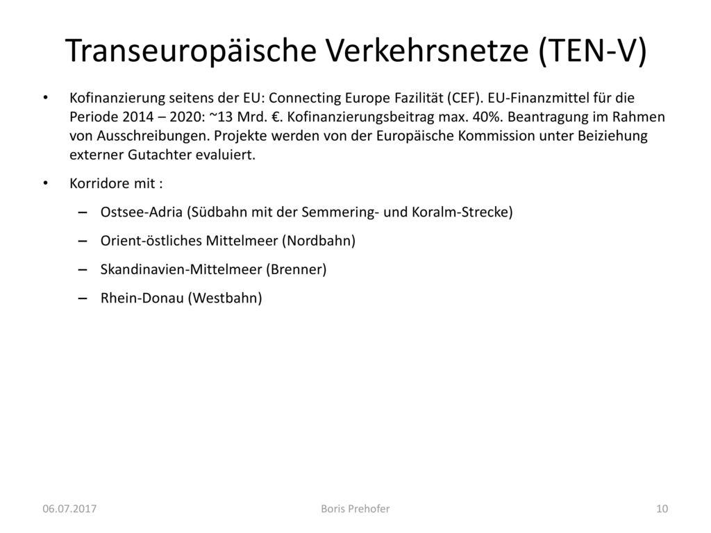 Transeuropäische Verkehrsnetze (TEN-V)