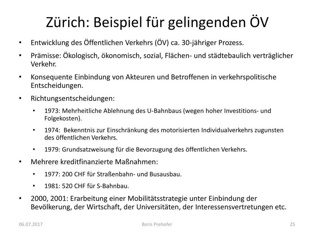 Zürich: Beispiel für gelingenden ÖV