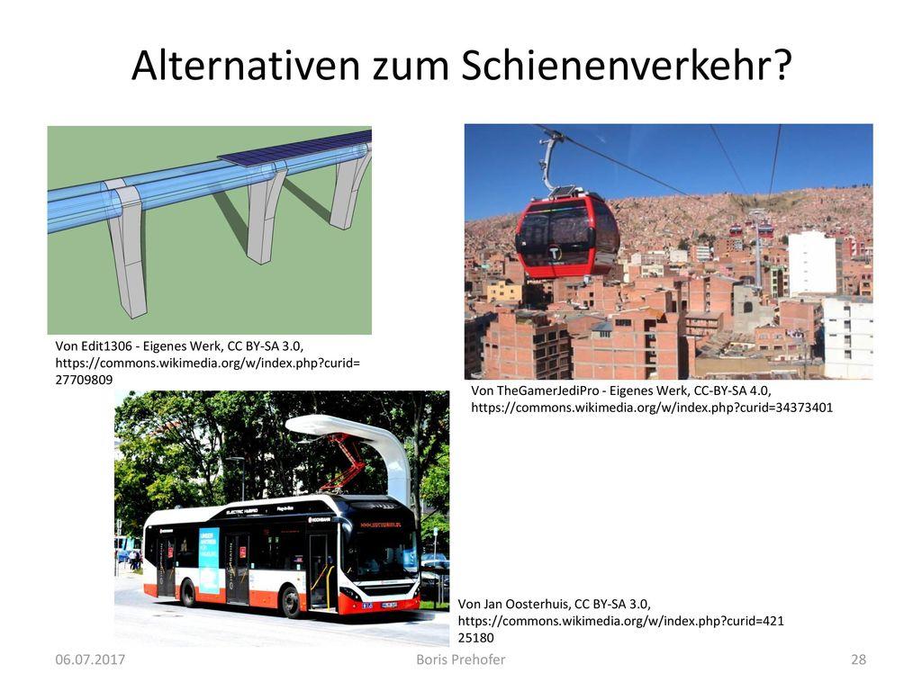 Alternativen zum Schienenverkehr