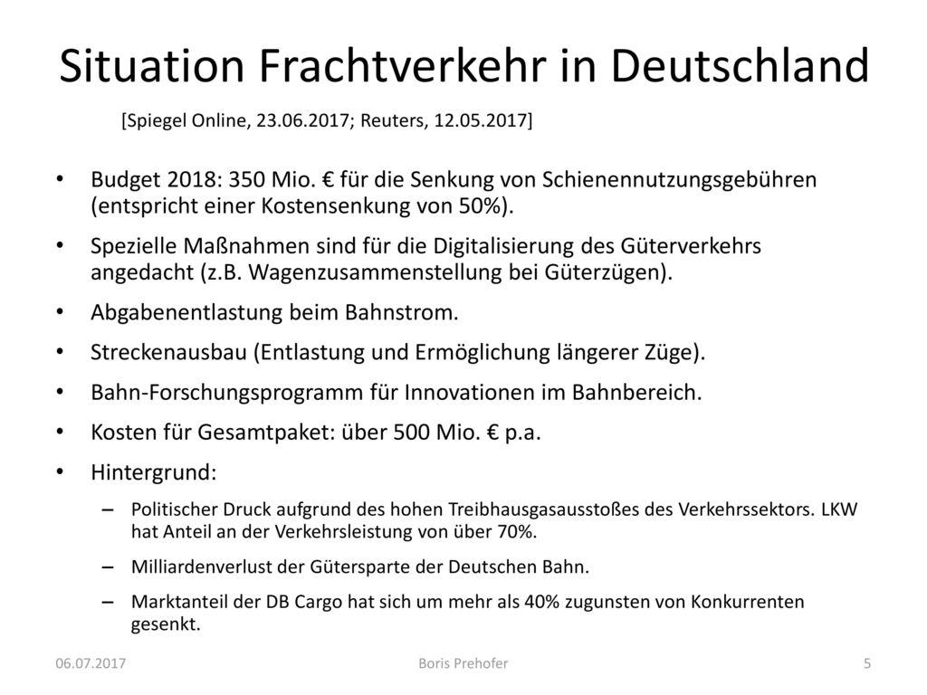 Situation Frachtverkehr in Deutschland