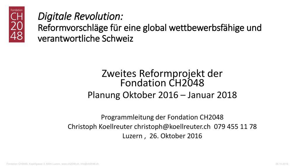 Zweites Reformprojekt der Fondation CH2048