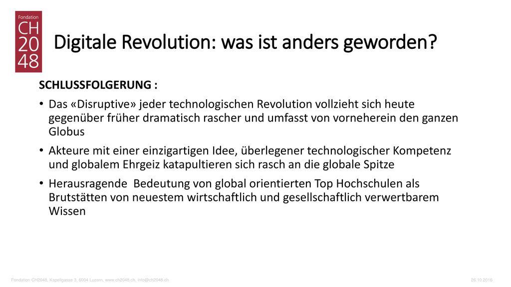 Digitale Revolution: was ist anders geworden