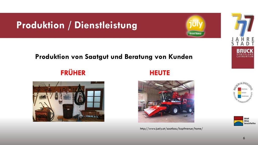 Produktion / Dienstleistung