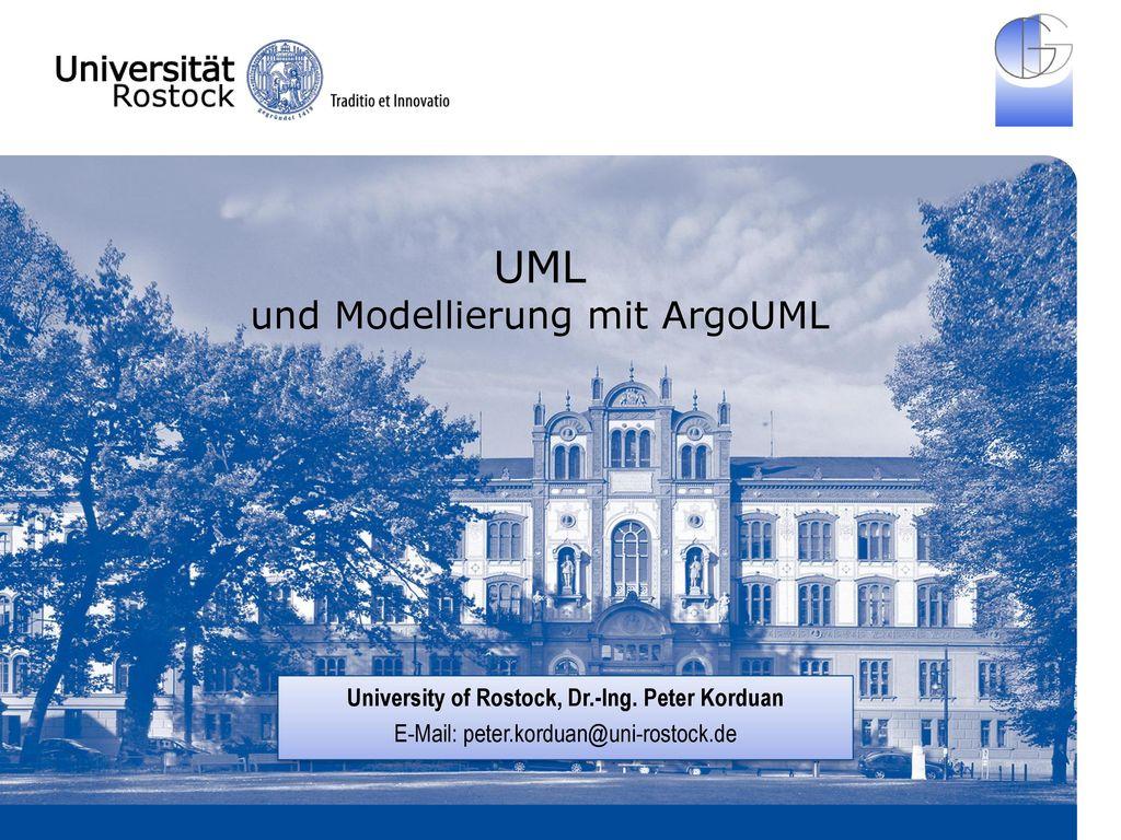UML und Modellierung mit ArgoUML