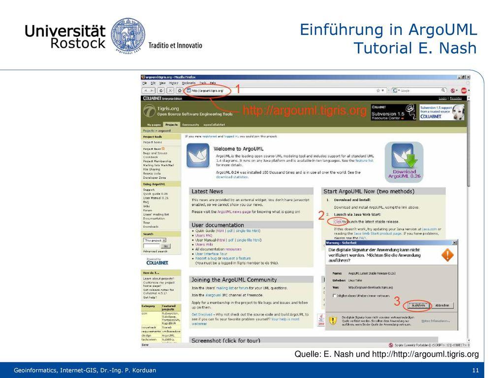 Einführung in ArgoUML Tutorial E. Nash