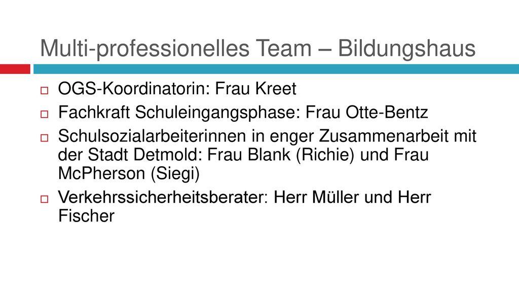 Multi-professionelles Team – Bildungshaus
