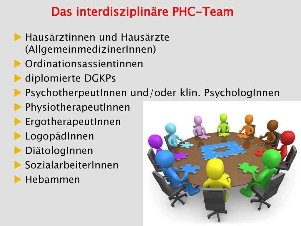Das interdisziplinäre PHC-Team