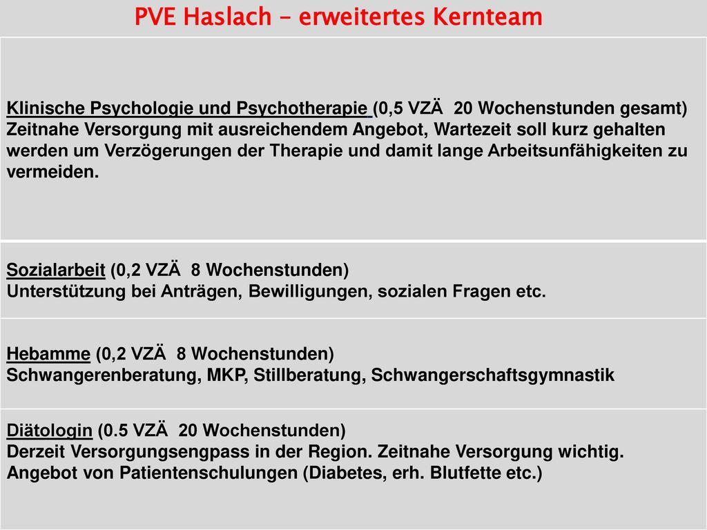PVE Haslach – erweitertes Kernteam