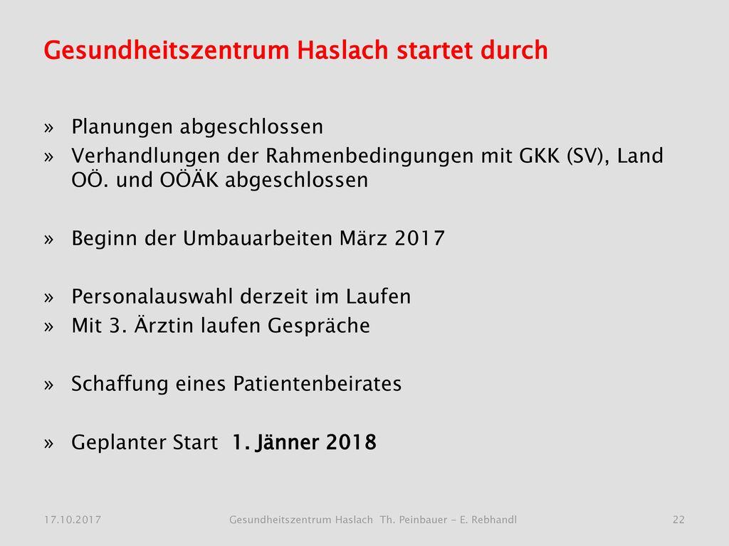 Gesundheitszentrum Haslach startet durch