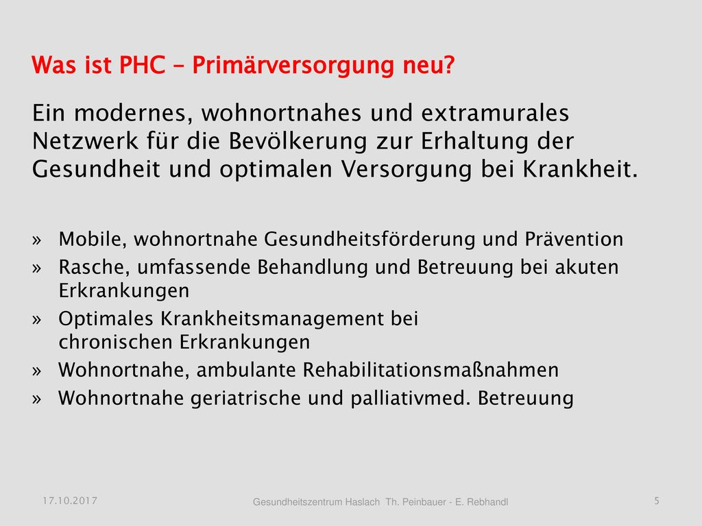 Was ist PHC – Primärversorgung neu