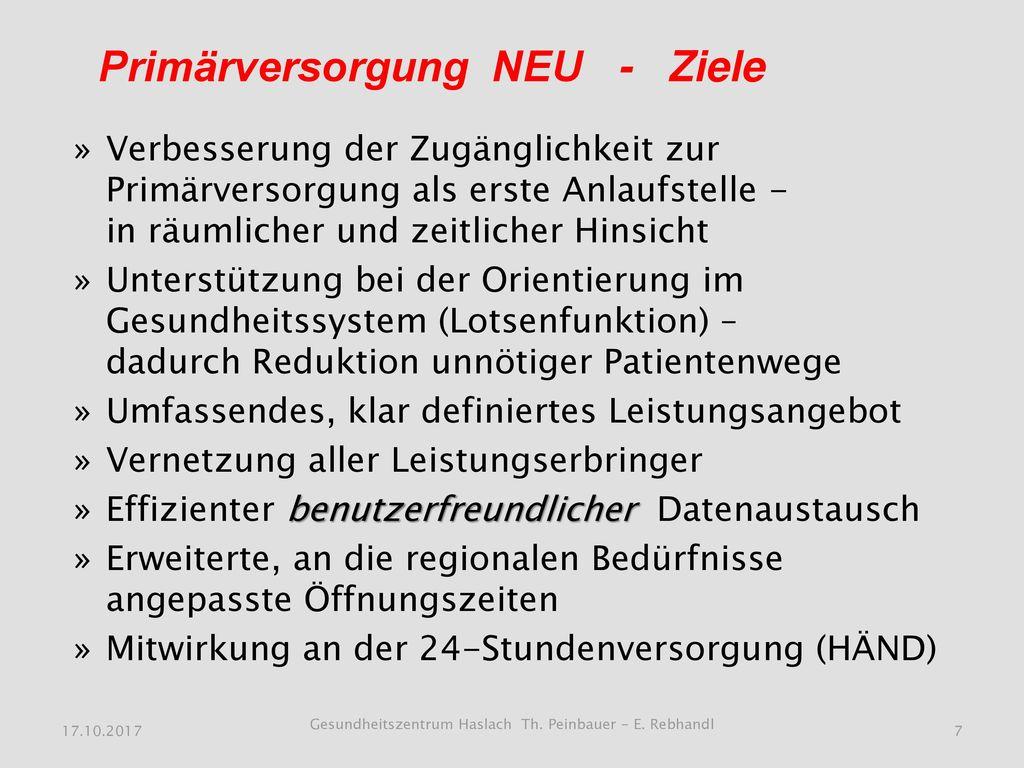 Gesundheitszentrum Haslach Th. Peinbauer - E. Rebhandl