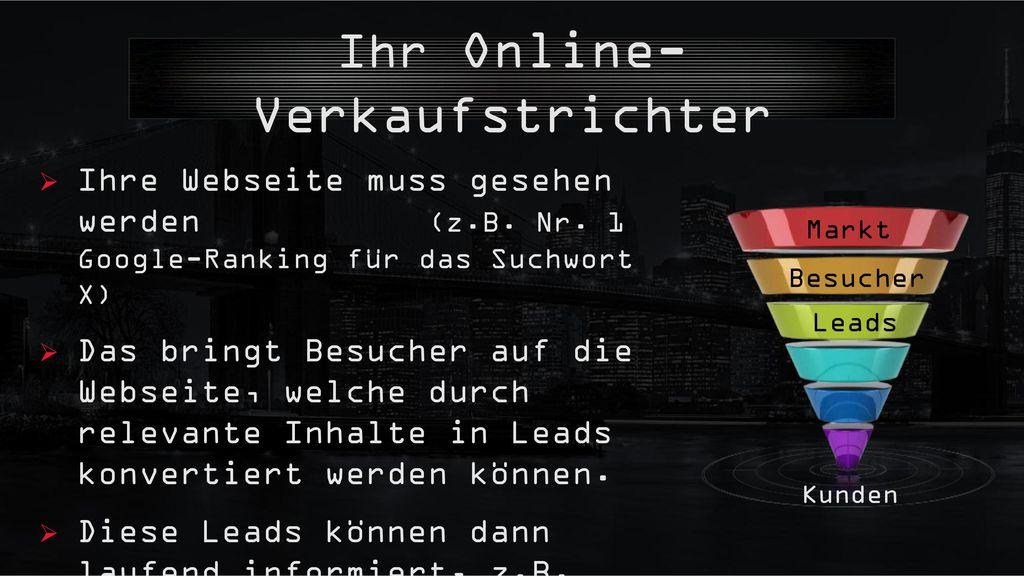 Ihr Online-Verkaufstrichter