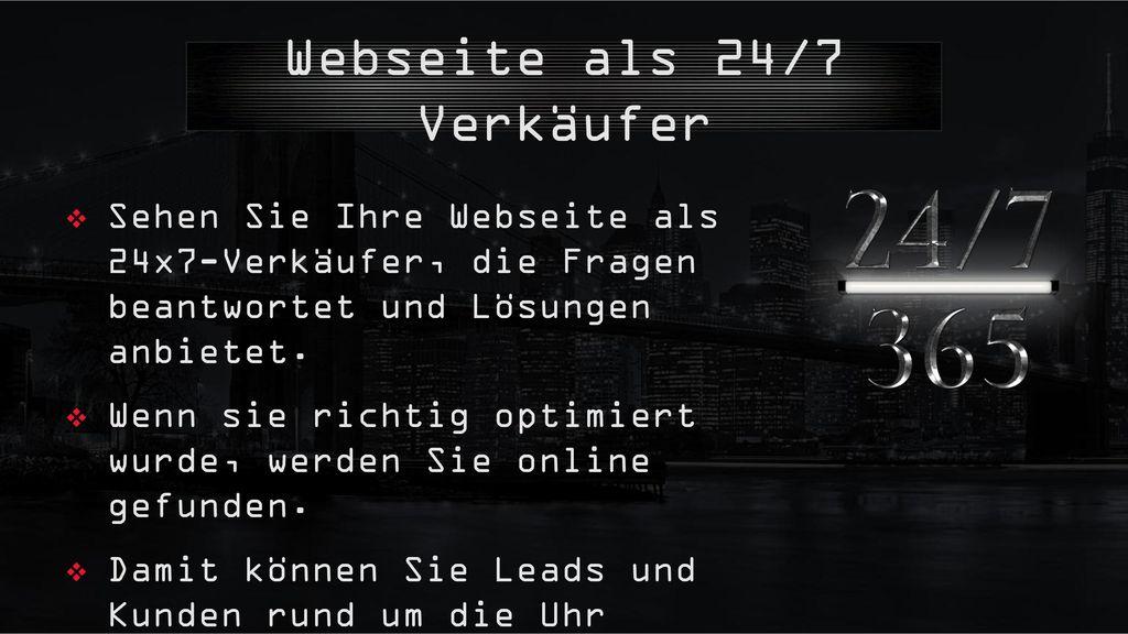 Webseite als 24/7 Verkäufer