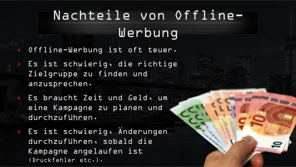 Nachteile von Offline-Werbung