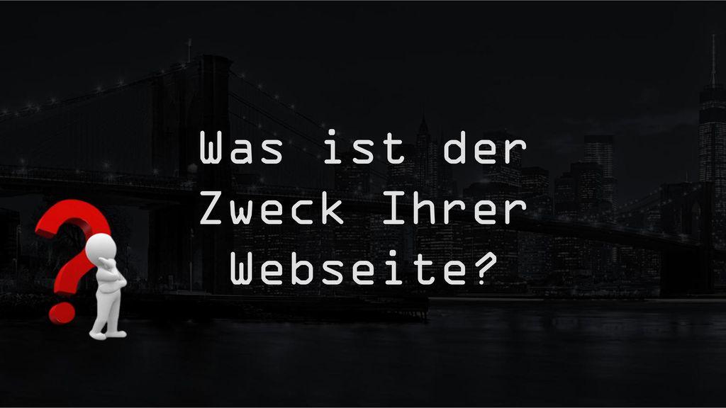 Was ist der Zweck Ihrer Webseite