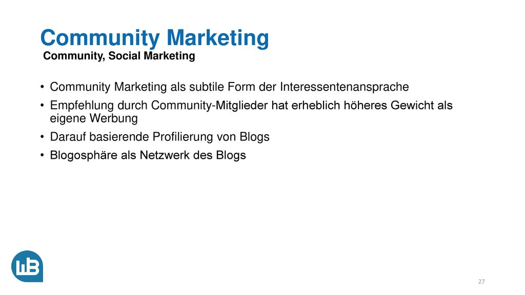 Community Marketing Community, Social Marketing