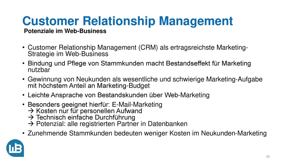 Customer Relationship Management Potenziale im Web-Business