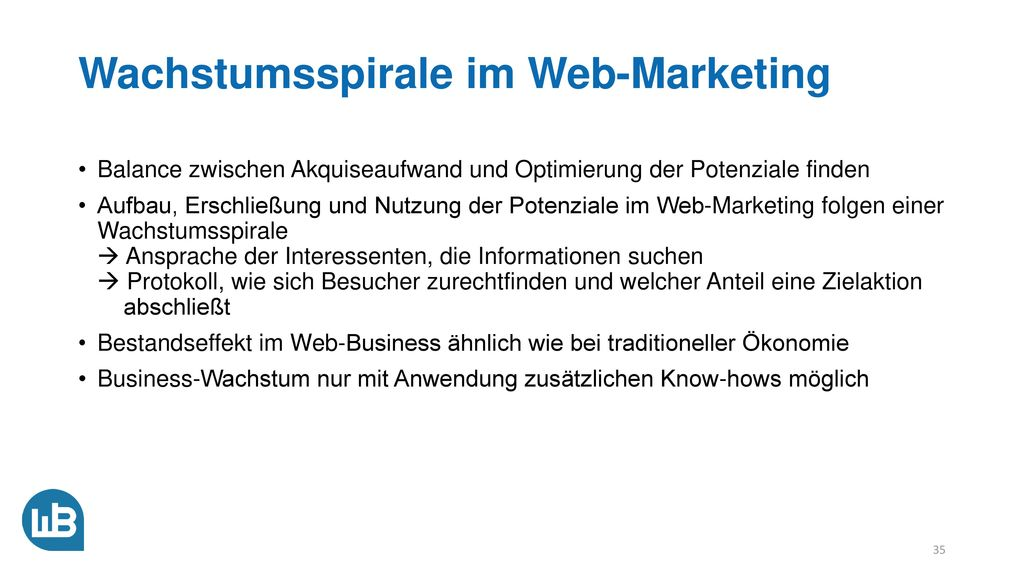 Wachstumsspirale im Web-Marketing