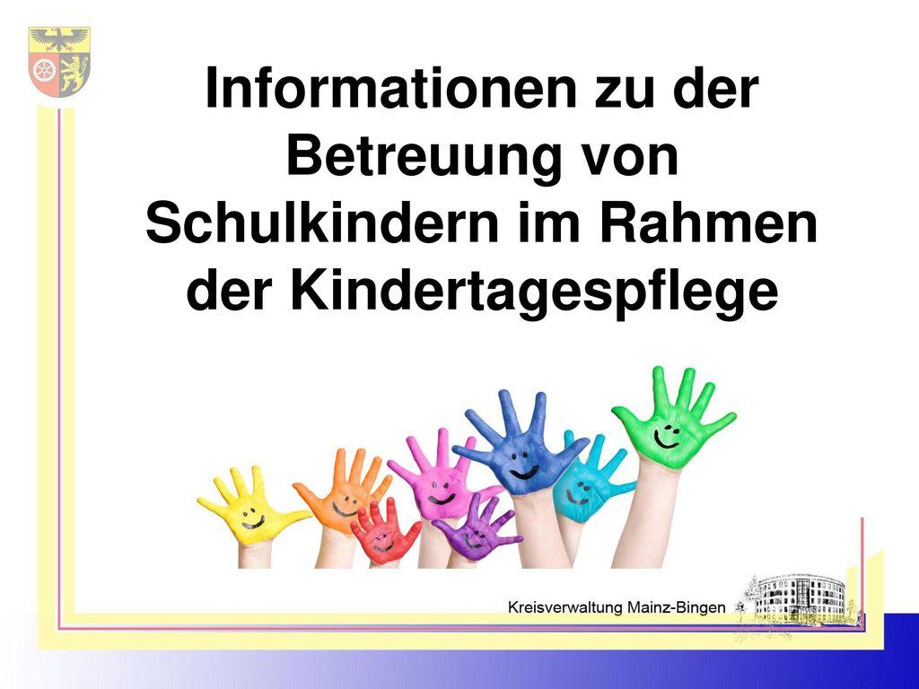 Informationen zu der Betreuung von Schulkindern im Rahmen der Kindertagespflege