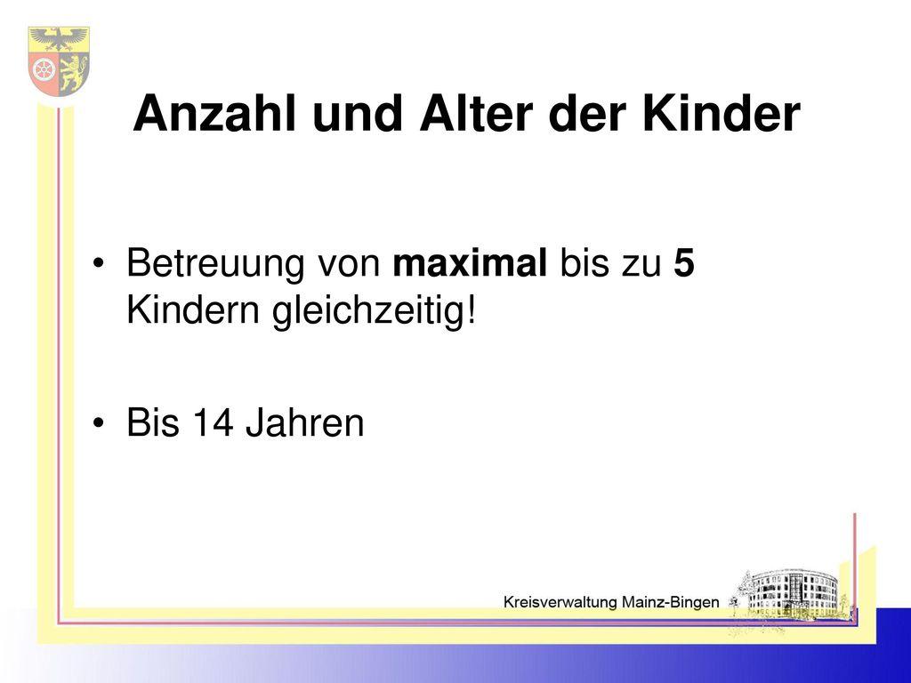 Anzahl und Alter der Kinder