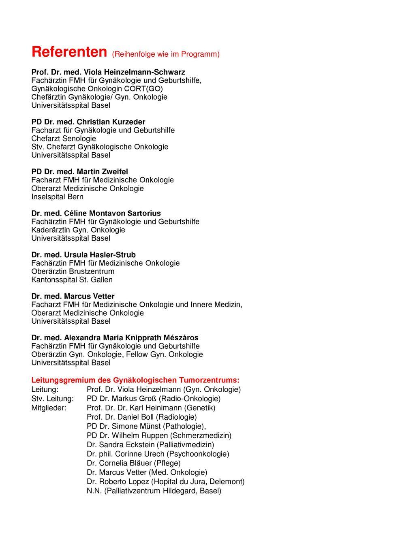 Referenten (Reihenfolge wie im Programm)