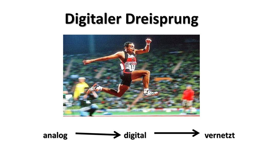 Digitaler Dreisprung analog digital vernetzt