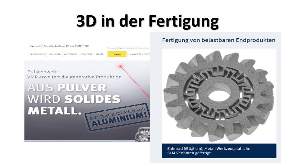 3D in der Fertigung