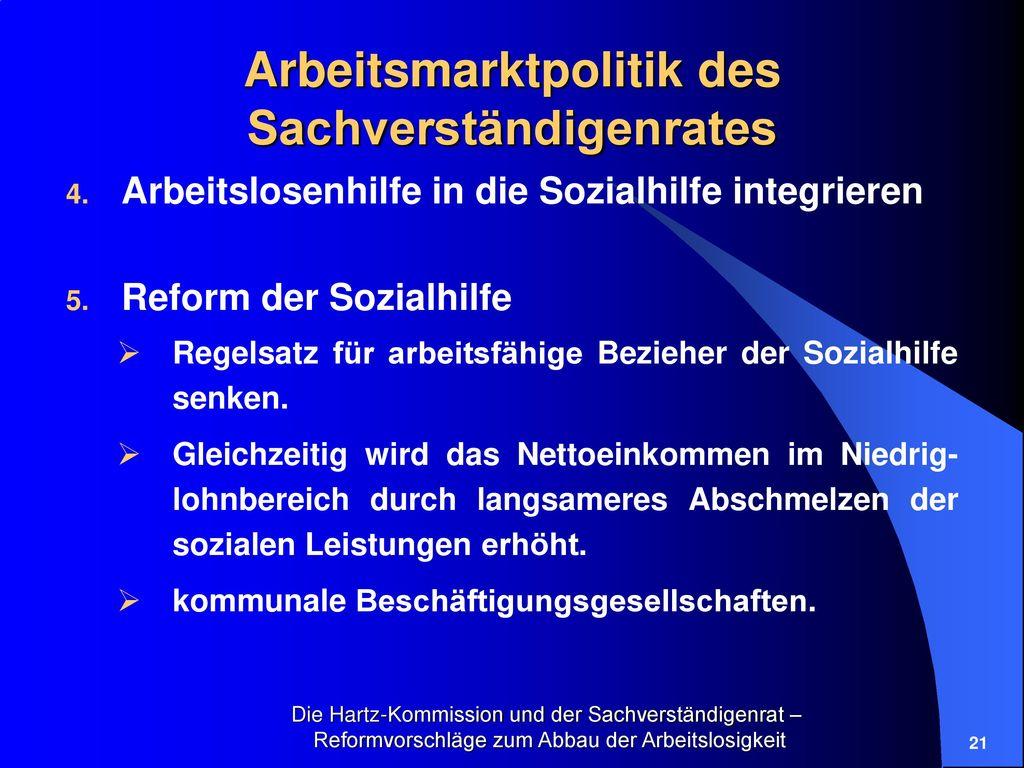 Arbeitsmarktpolitik des Sachverständigenrates