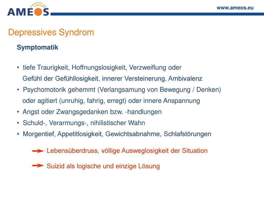 Depressives Syndrom Symptomatik