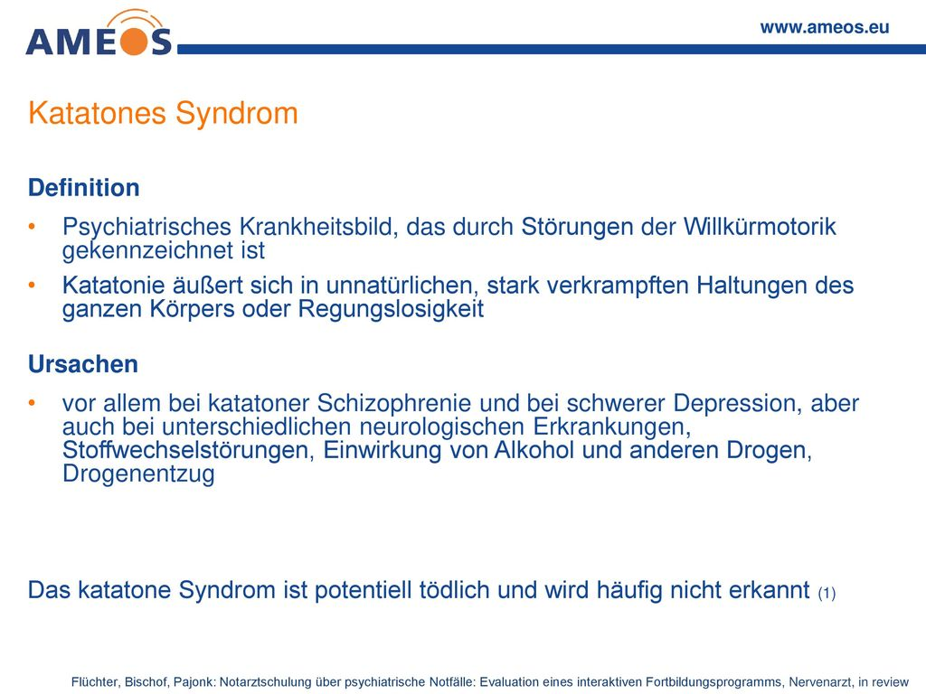 Katatones Syndrom Definition
