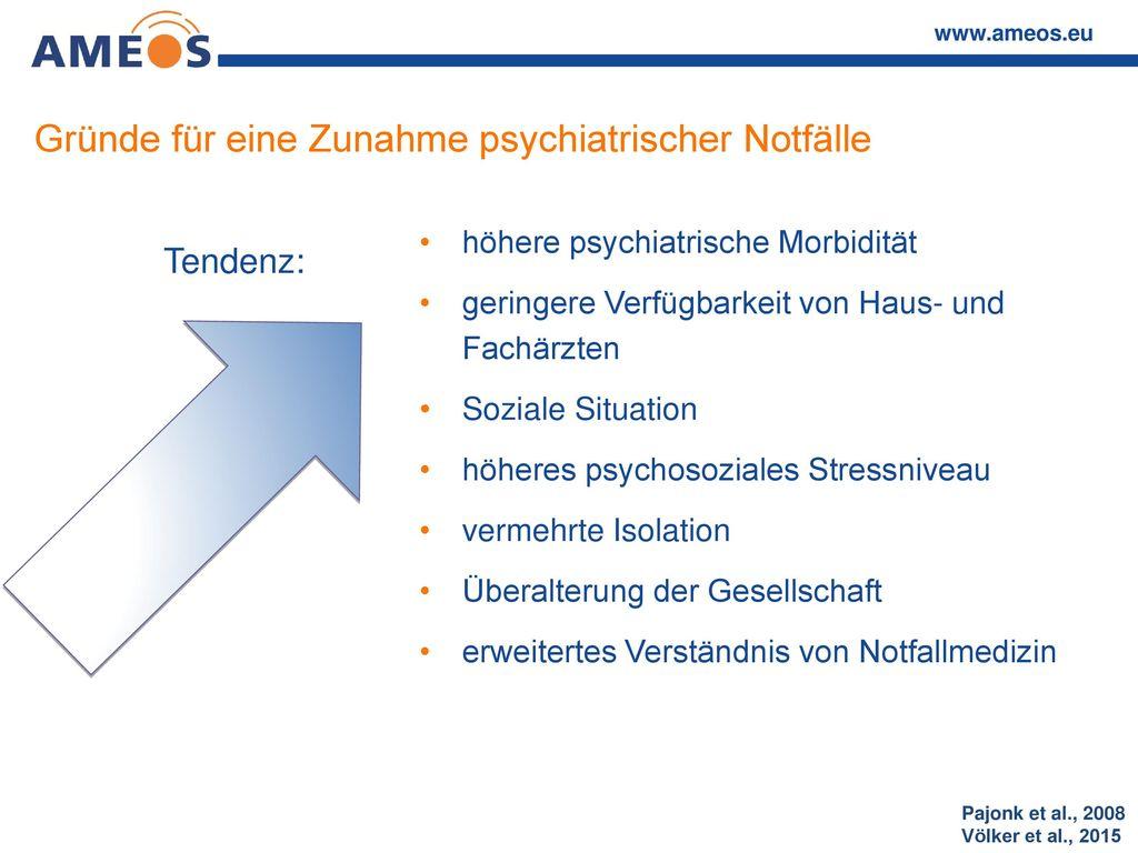 Gründe für eine Zunahme psychiatrischer Notfälle