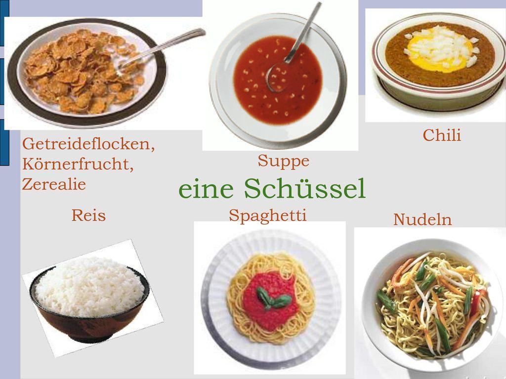 eine Schüssel Chili Getreideflocken, Körnerfrucht, Zerealie Suppe Reis