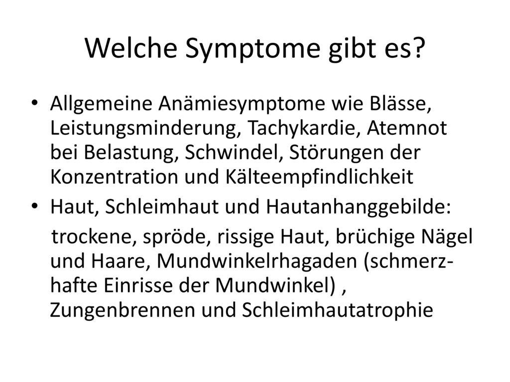 Welche Symptome gibt es