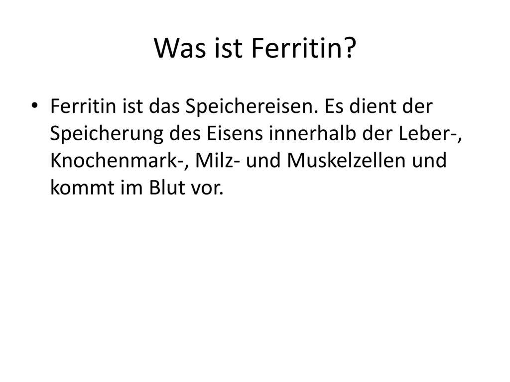 Was ist Ferritin