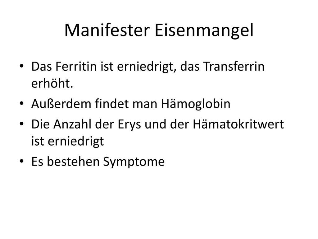 Manifester Eisenmangel