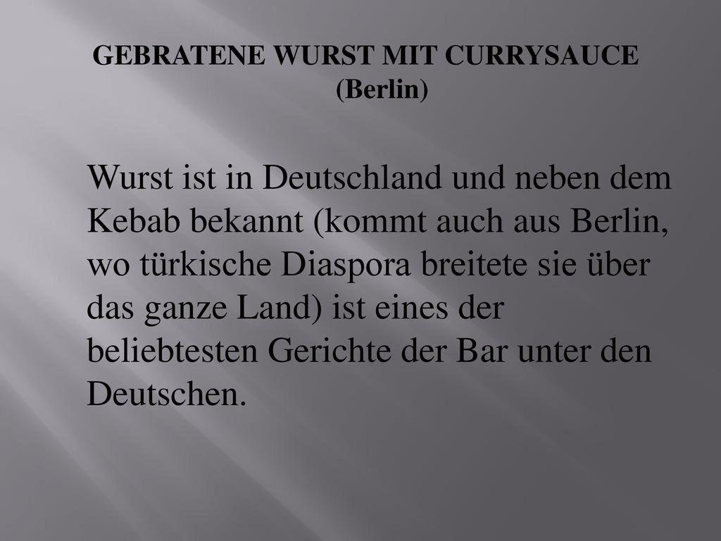 GEBRATENE WURST MIT CURRYSAUCE (Berlin)