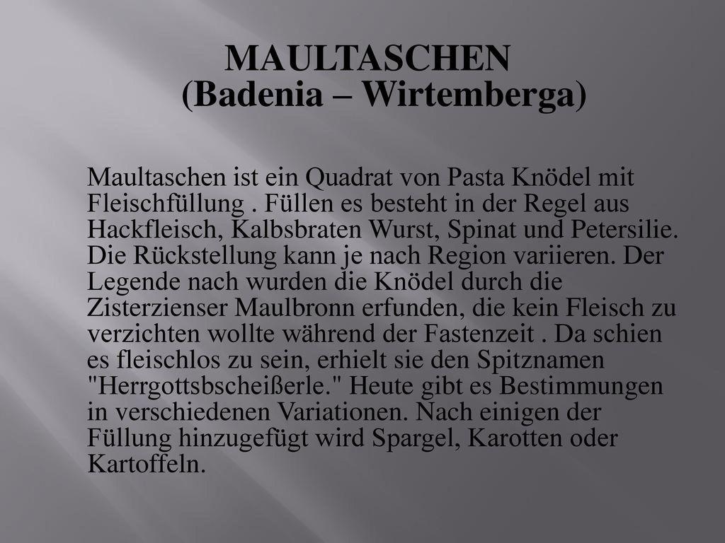 MAULTASCHEN (Badenia – Wirtemberga)