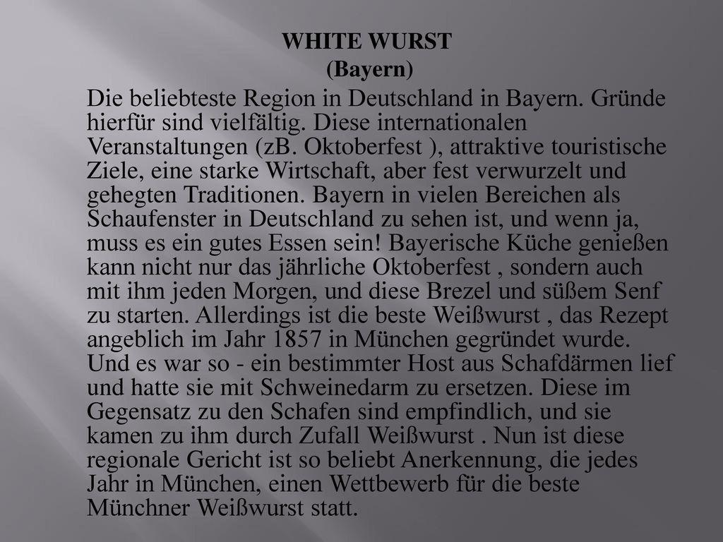 WHITE WURST (Bayern)