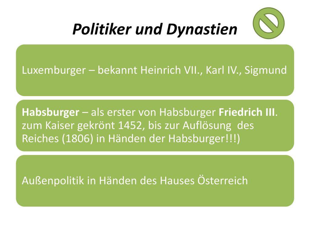Politiker und Dynastien