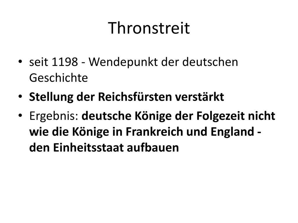 Thronstreit seit 1198 - Wendepunkt der deutschen Geschichte