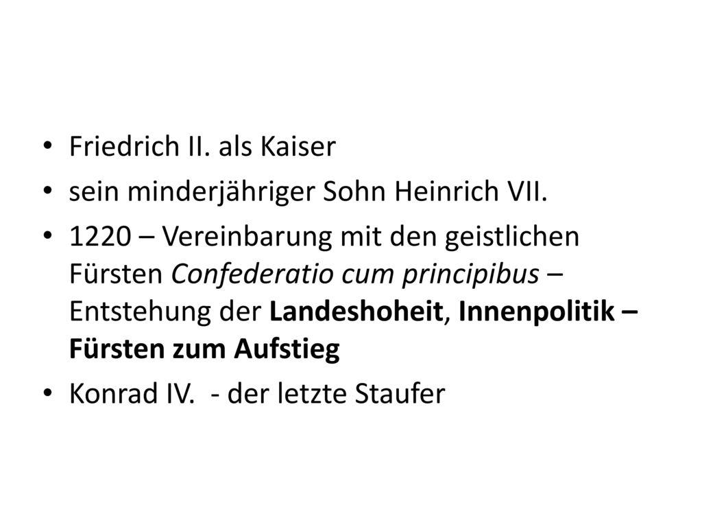 Friedrich II. als Kaiser