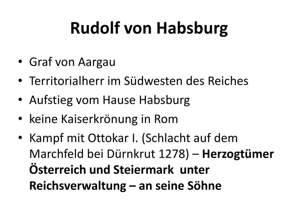 Rudolf von Habsburg Graf von Aargau