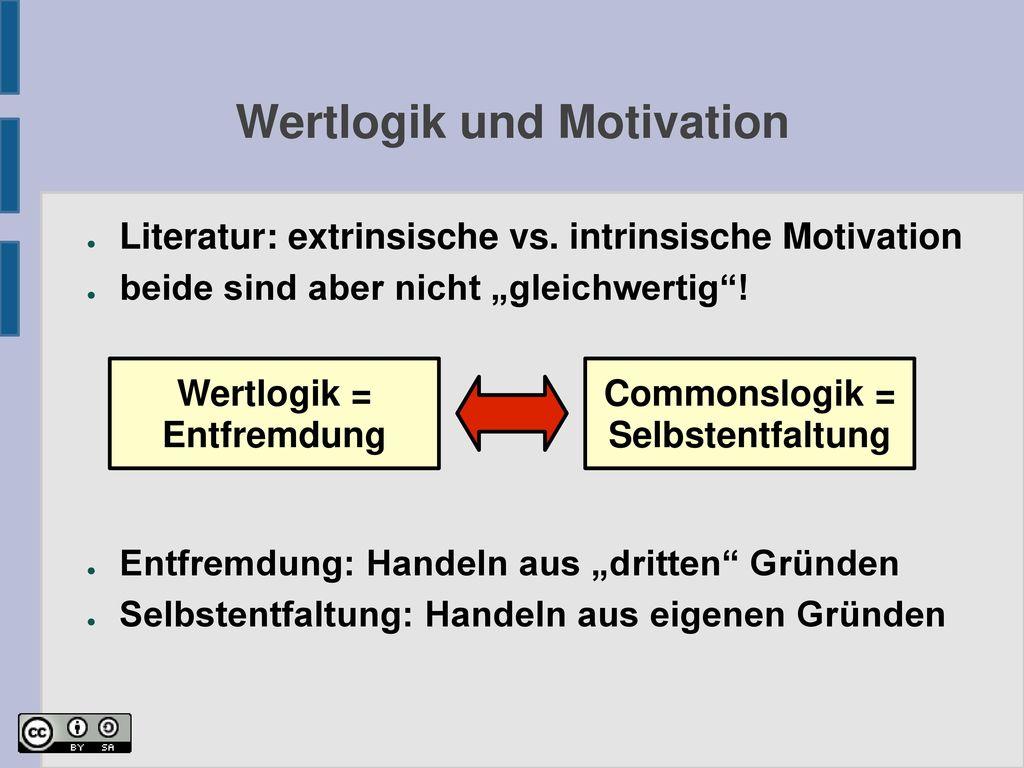 Wertlogik und Motivation