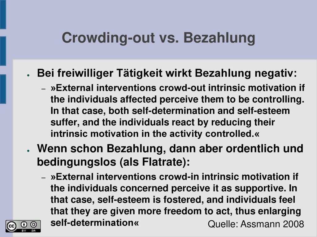 Crowding-out vs. Bezahlung