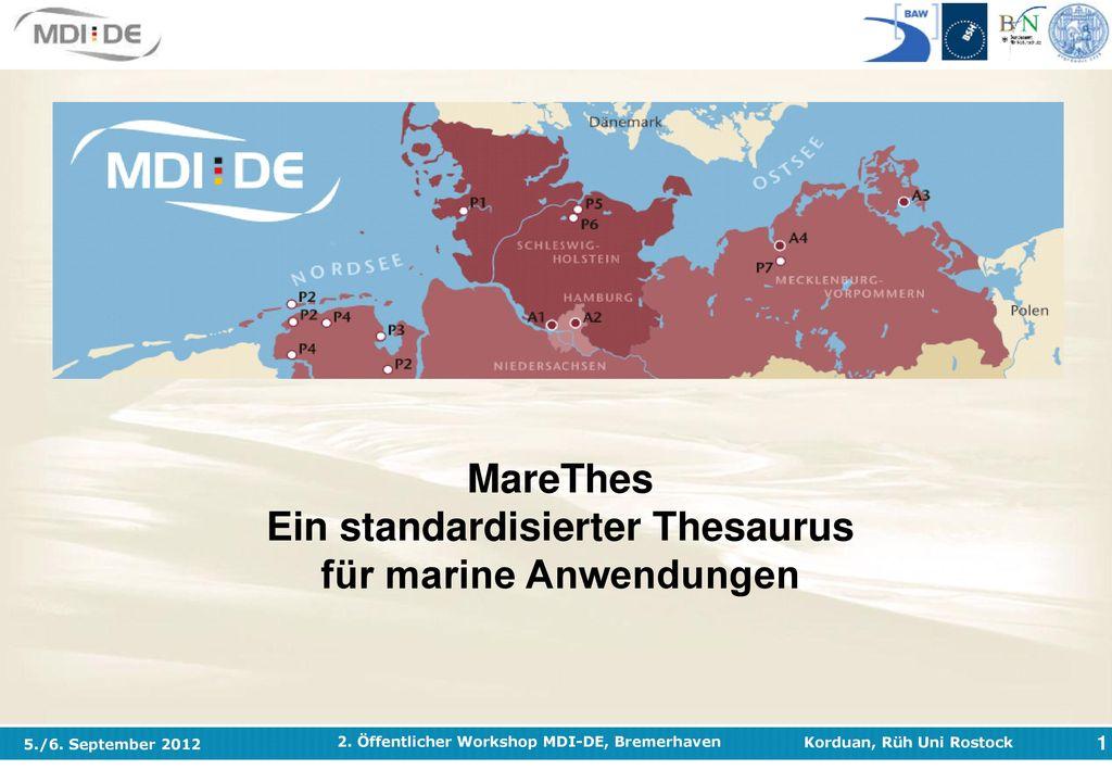 MareThes Ein standardisierter Thesaurus für marine Anwendungen