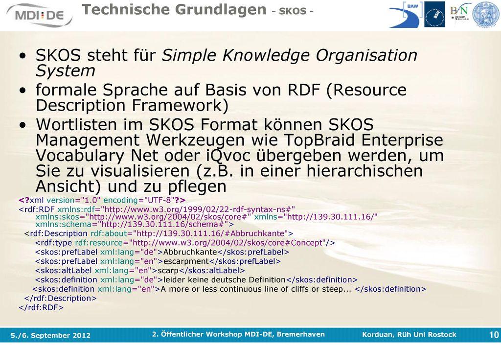 Technische Grundlagen - SKOS -