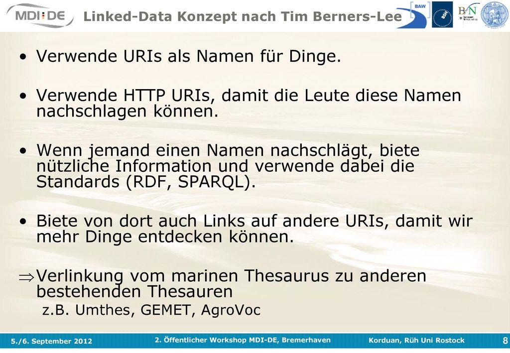 Linked-Data Konzept nach Tim Berners-Lee